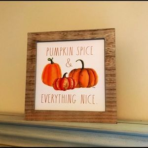 Rae Dunn Pumpkin Spice Everything Nice Wooden Sign